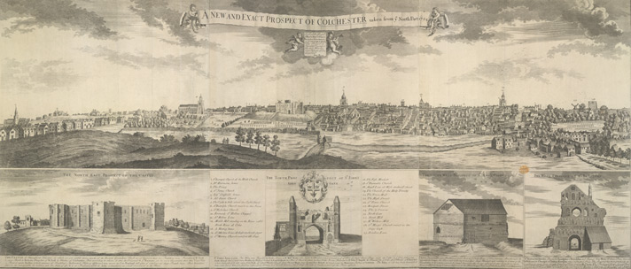 Prospect Of Colchester, J Pryer, 1724